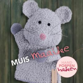 Haakpakket Muis Maaike uit boek Handpoppen haken Cute Dutch