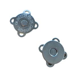 Magneetsluiting zilverkleurig 20mm - vierkant