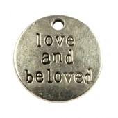 """Bedel met tekst: """"Love and beloved"""""""