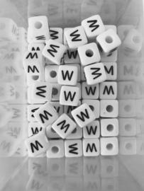 Letterkraal acryl wit W