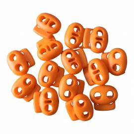 Koordstopper Oranje 18mm 2 gaatjes