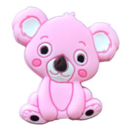 Siliconen kraal Koala zittend - Roze