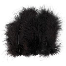 Veertjes 5-12cm ±15 stuks - Zwart