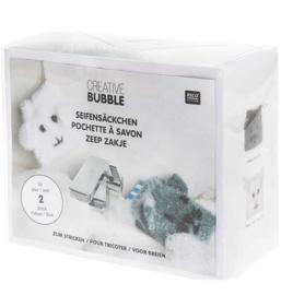 Rico grappige  zeepzakjes pakket van bubble garen om te BREIEN