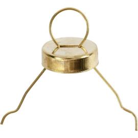 Metalen hanger d:13mm gatgrootte 5mm - Goudkleurig