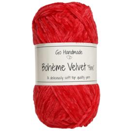 Go Handmade Bohème Velvet Fine - Warm Red - 17619