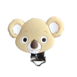 Siliconen speenclip Koala - Beige