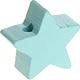 Houten kraal Mini-ster mint effen ''babyproof''