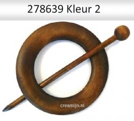 Houten Sjaal sluiting 278639 rond 80mm kleur 2