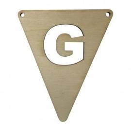 Houten vlagletter G