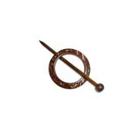 Kokos Sjaal sluiting 0012  rond 70 mm bruin