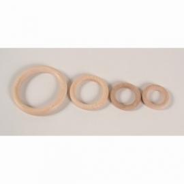 Houten beuken ring 100mm x 13mm