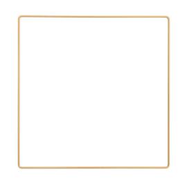 Metalen frame vierkant 25x 25cm Donkergoud