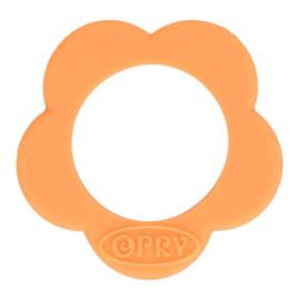 Opry siliconen Bloem bijtring  Zacht oranje -  704