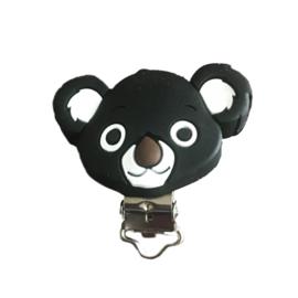 Siliconen speenclip Koala - Zwart