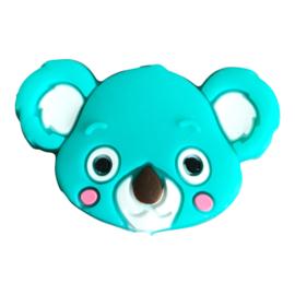 Siliconen kraal Koala hoofd - Jade