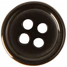 Rico zwarte plastic knoopjes 11mm