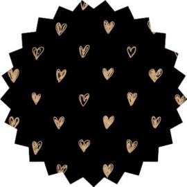 Kadosticker Kleine hartjes zwart 10 st