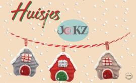 Garen en fourniturenpakket Kersthuisjes (3stuks)