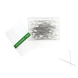 Parelkopspelden wit 55mm