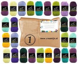CAL Crochet Along 2014 Scheepjes Cotton nr 8   Geen Porto!!