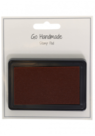 Go Handmade Inktkussen Brown