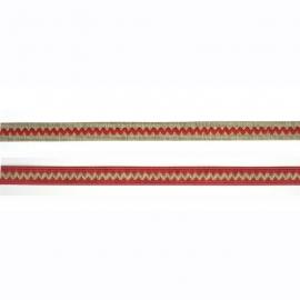Prachtig band met zigzag rood