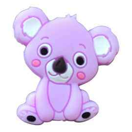 Siliconen kraal Koala zittend - Lila