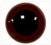 Veiligheidsoogjes 8 mm Bruin