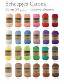 Scheepjes Catona nieuwe kleurtjes 24 x 25 gram