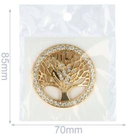Magnetische Broche boom 45mm Goud