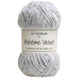 Go Handmade Bohème Velvet Fine - Light Grey- 17601