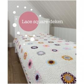 Lace square-deken uit boek Haakspiratie
