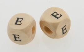 Letterkraal hout letter E