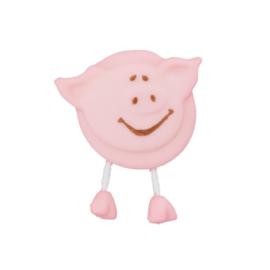 Knoop varken met voetjes roze