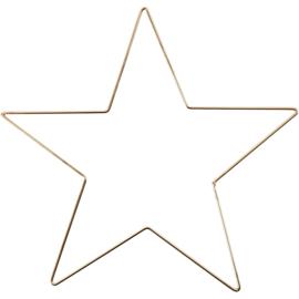 Ster goudkleur  doorsnee 30cm dikte 3mm