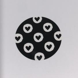 Kadosticker zwarte hartjes 10 st