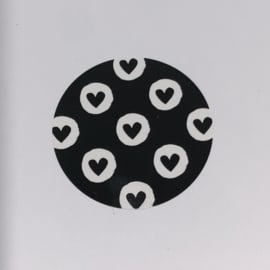 Kadosticker zwarte hartjes 10 stuks