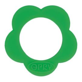 Opry siliconen Bloem bijtring  Groen - 433