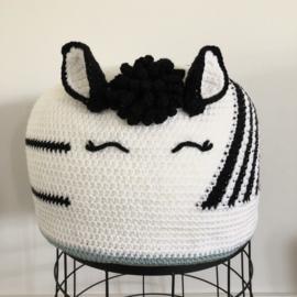 Garenpakket voor Poefje voor kleine boefjes: Zebra