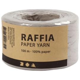 Papier Raffia garen - Grijs - 7-8mm