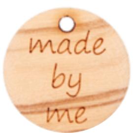 Houten label met Made by me