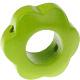 Houten bloemkraal lichtgroen  ''babyproof''