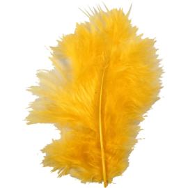 Veertjes 5-12cm ±15 stuks - Geel