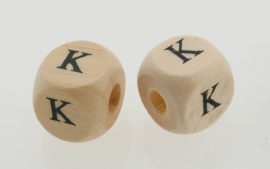 Letterkraal hout letter K