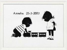 Telpakket Jip/Janneke geboorte Trein