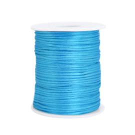 Satijnkoord 1mm  Turquoise