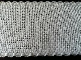 Aida borduurband 5 cm breed wit