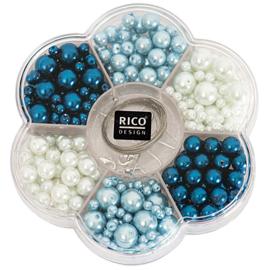 Rico set parelkralen Renaissance blauw 443 delig