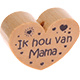 Houten kraal ''ik hou van mama'' blank ''babyproof''
